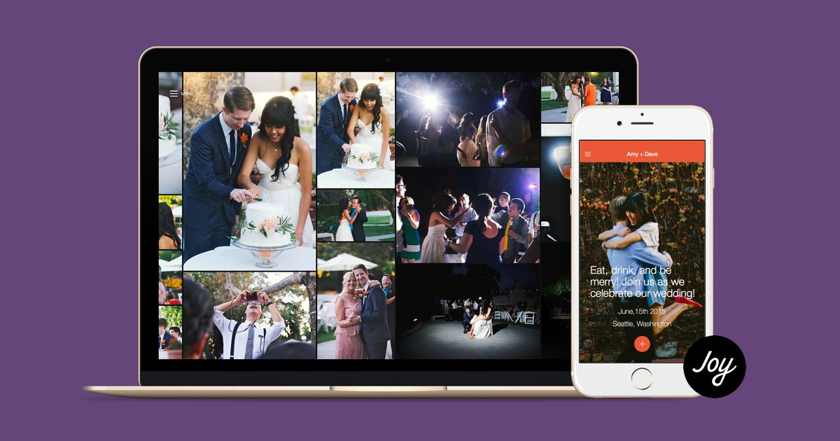Joy - The only wedding app and website you need